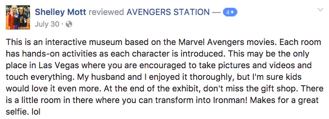 Marvel Avengers STATION Review Facebook