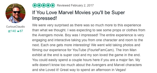 Marvel Avengers Station Reviews TripAdvisor Impressed