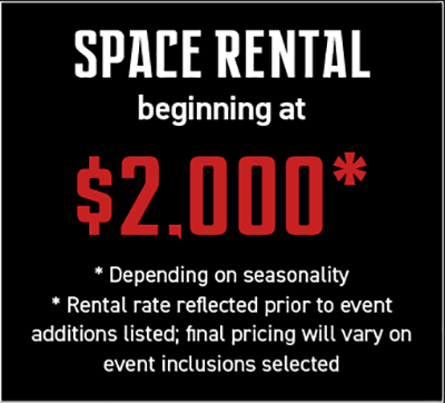 space rental beginning at two thousand dollars
